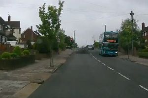 The smoke coming out to the bus in Old Bedford Road