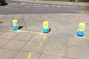 The Minions survived several weeks before being painted over by the council. Photo: John Maher