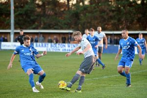 Action from Barton's defeat to Bedford Town on Saturday