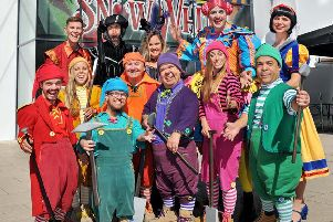 Members of the Snow White cast