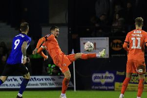 Sonny Bradley clears the danger against Sheffield Wednesday on Tuesday night