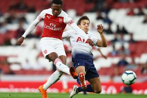 Joe Willock in action for Arsenal U23s