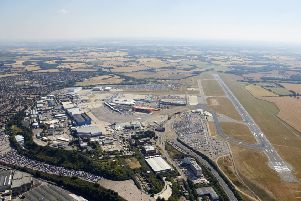 Aerial view of London Luton Airport from Runway. Photo by Andrew Holt