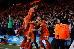 Luton celebrate another win at the weekend