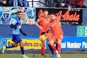 Sonny Bradley is yet to score for the Hatters