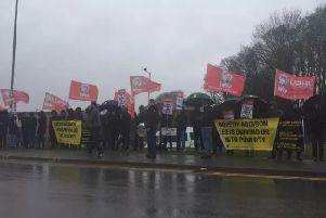 Minicab drivers protested against pay and conditions working for Addison Lee last month