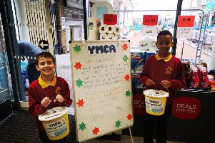 Pupils from Chantry Primary Academy were at the Co-op raising money for YMCA