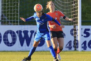 Zara Carroll went close for Luton on Sunday
