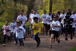 The runners in action!