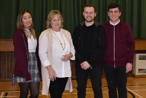 PCC Kathryn Holloway with actors from 'County Lines'