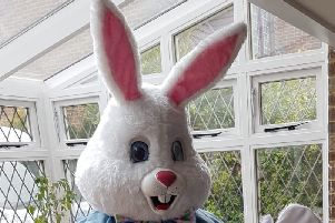 The Easter bunny was at the care home's Easter fun day