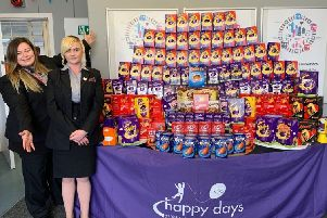 Easter egg collection by Thameslink for Happy Days Children's Charity
