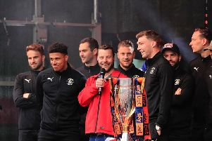 James Justin at the Hatters' promotion party