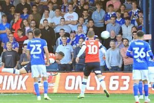 Lloyd Jones makes it 1-0 to Luton on Tuesday night