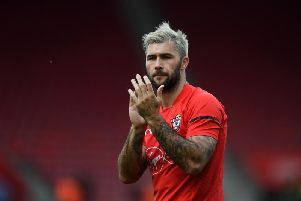 West Brom striker Charlie Austin