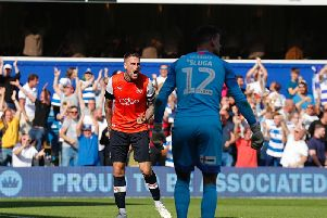 Sonny Bradley can't hide his frustration as the Hatters concede again on Saturday