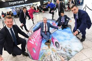 The new 3D artwork at Luton Airport