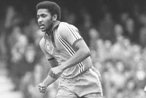 Luton legend Ricky Hill in action for the Hatters