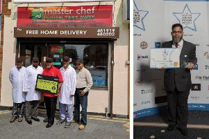 Left: The Masterchef team. Right: Mr Miah at the awards.
