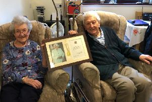 Jean and Peter are celebrating their Platinum Wedding Anniversary