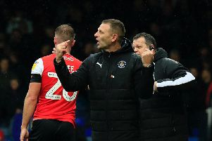 Graeme Jones makes his point during last weekend's defeat to Nottingham Forest