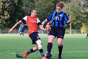 Action from a Luton Ladies game earlier this season