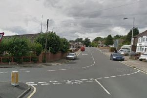 The victim was walker along Filmer Road (right) when he was approached by the thug