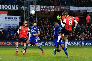 Luke Berry saw this effort fly wide on Saturday