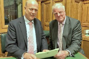 MP Sir Edward Leigh (right) with Transport Secretary Chris Grayling EMN-181126-082407001