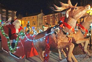 Santa will be arriving in Market Rasen market place at 4pm on Christmas Eve