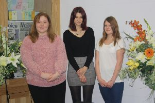De Aston's debating stars, from left, Charlotte Marriott, Chloe Chuck, Ellyse Gilliot. EMN-181217-113447001