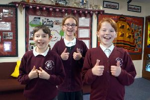 Pupils celebrate success at Binbrook CofE Primary School. EMN-181219-164558001