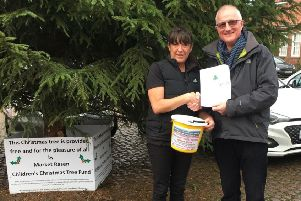 Julie Lambie from MRAG presented the money to chairman of the Christmas Tree committee Andrew Morrison EMN-181231-091218001