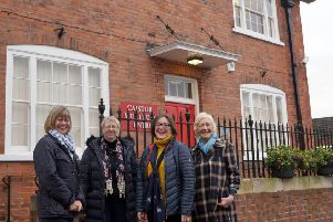 Christine Brewster, Sheila Oldham, Stephanie Dale and Sue Neave are raring to go on the new project EMN-190115-072724001