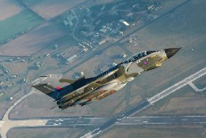 Nine of these Tornados will be performing a farewell flypast over RAF Cranwell on Thursday.