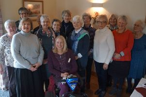 Members of Market Rasen Ladies Rotary Club with Emma EMN-190214-123908001