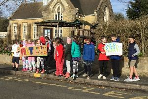 Students from Tealby School joined a strike against climate change. EMN-190315-161438001