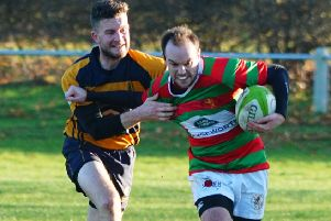 Chris Everton scored at Dronfield on his return to First XV duties. Picture courtesy of Jon Staves EMN-190104-110949002
