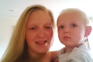Nicole Rolls pictured with her baby son Archie, who passed away suddenly in 2016.