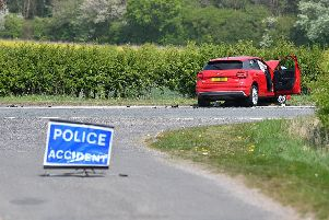 The scene of the collision near Baumber. (Photo: John Aron Photography)