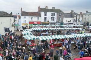 Market Rasen's Christmas market brought out the crowds and it is hoped this weekend's event will too
