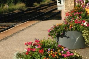 Flowers provide a pleasing welcome at Market Rasen station EMN-190521-121309001