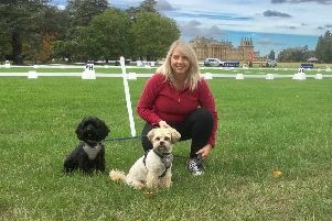 Holly Bryant with her own dogs, Buster and Rocky