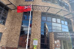West Lindsey District Council observed Merchant Navy Day by flying the Red Ensign. EMN-190409-103120001