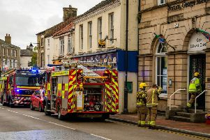 Fire crews called to the Corn Exchange in Market Rasen'Photo: Frederick Rowlands EMN-190409-133111001