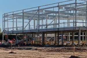 Building work at the Market Rasen leisure centre site
