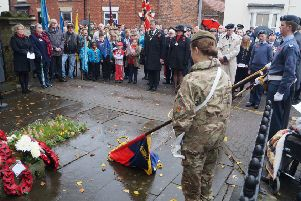 Town Mayor, Coun John Matthews led the commemorations at last year's Remembrance Sunday event
