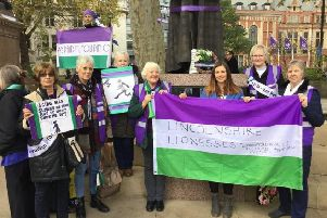 Lincolnshire Lionesses at the rally in Westminster on November 5.