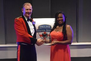 Sandra Murphy pictured with her award. EMN-191115-121009001