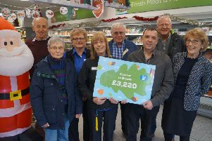 Volunteers and supporters of Caistor in Bloom at Caistor's Co-op food store EMN-191125-124200001